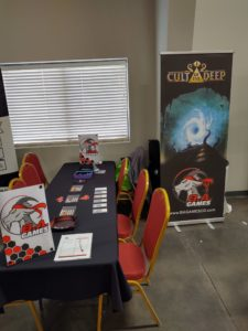 Booth Setup for Board Game Convention